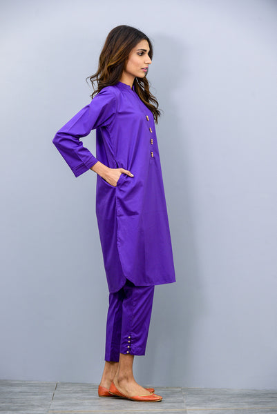 WOMEN KURTA PAJAMA PLAIN