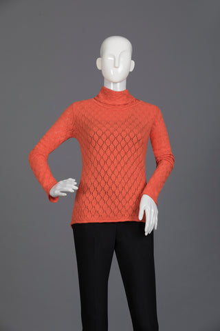 Orange Women Sweater