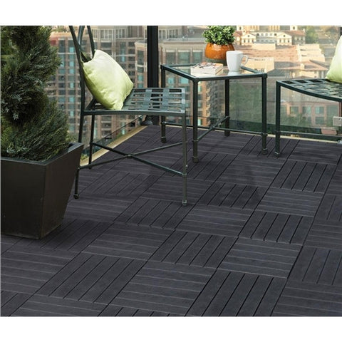 Multy Home Ecotrend Deck Tile 6 Pack - Slate Colour 30cm x 30cm