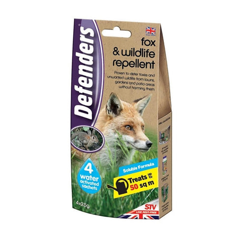 Defenders Fox & Wildlife Repellent 4 x 25g Sachets