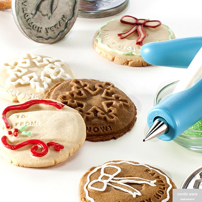 Set of 3 Holiday Cookie Impressions Stamps