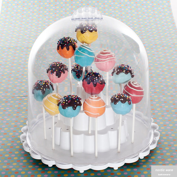 Cake Pop Stand with Dome Lid