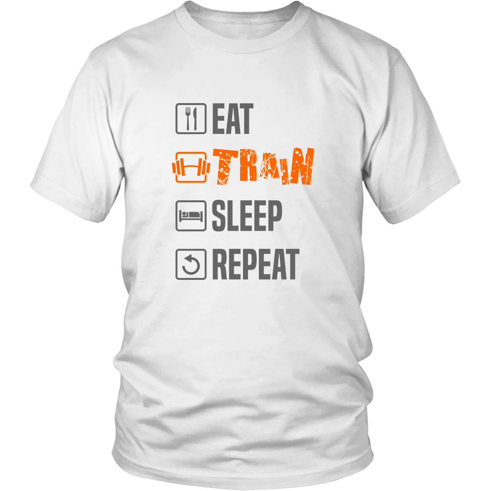 97ccc5fc406 Men s T-Shirt For Gym Lovers - Eat Train Sleep Repeat - TheStuffSquad