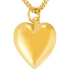 Heart Locket Necklace for Kids - Smooth and Simple