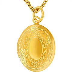 Oval Gold Plated Locket