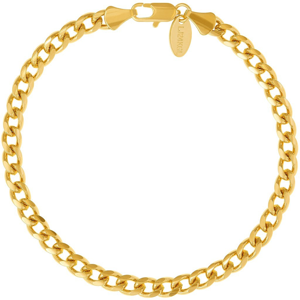 5mm Gold Cuban Link Bracelet