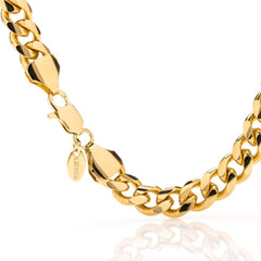 9mm Gold Cuban Link Bracelet with quality tag and durable lobster clasp
