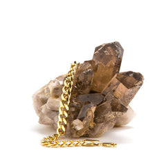 9mm Gold Cuban Link Bracelet in a crystal stone