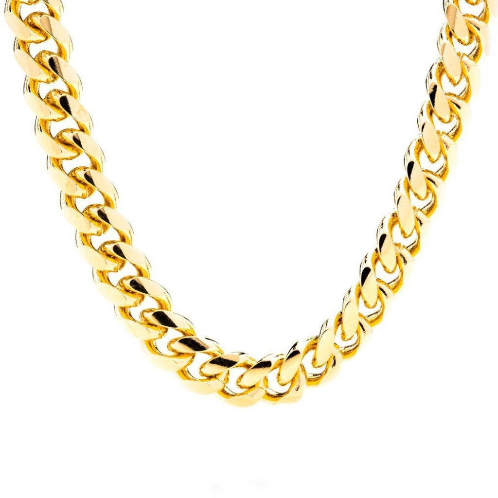Gold Plated 11mm Gold Cuban Link Chain