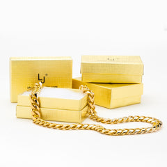 Gold Plated 11mm Gold Cuban Link Chain with boxes