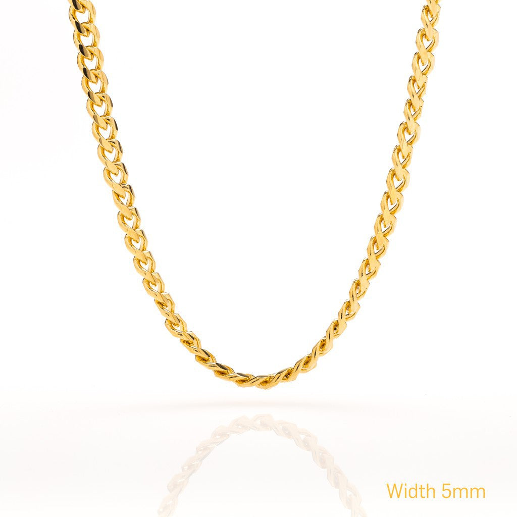 Gold Plated 5mm Gold Cuban Link Chain
