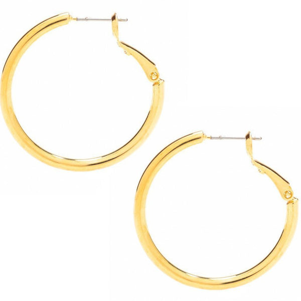 Gold Plated Hoop Earrings, Medium