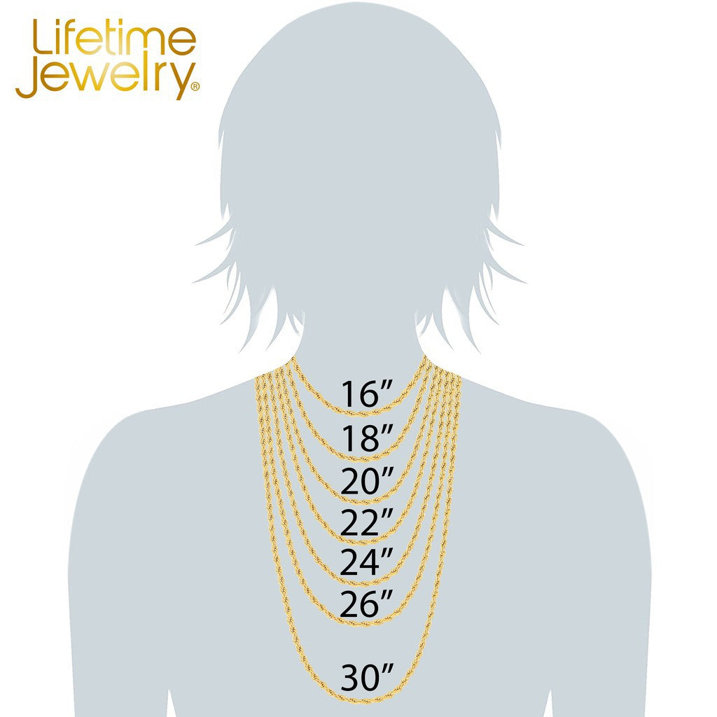 Gold Plated 3mm Rope Chain by inches