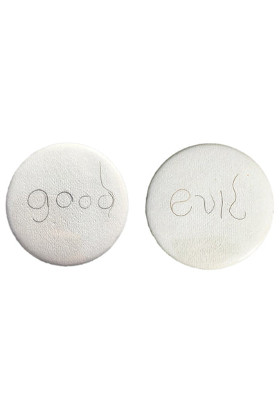 "Badge Taste <br> ""Good"" & ""Evil"" Pubes Set"