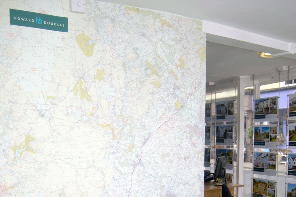 Wallmap in Howard Douglas Estate Agents, Ashburton.