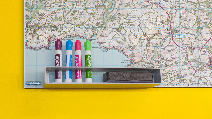 We coat our maps in drywipe® that allows you to mark and re-mark your map.