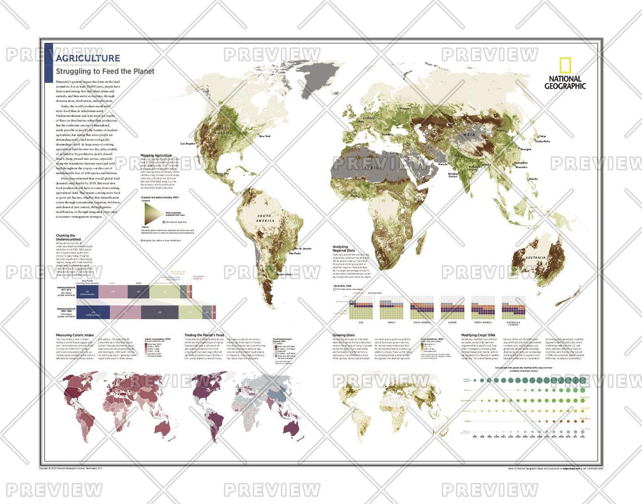Agriculture: Struggling to Feed the Planet - Atlas of the World, 10th Edition