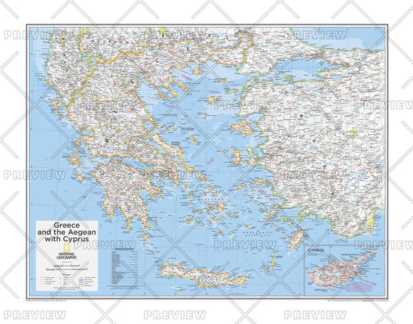 Greece and the Aegean with Cyprus - Atlas of the World, 10th Edition
