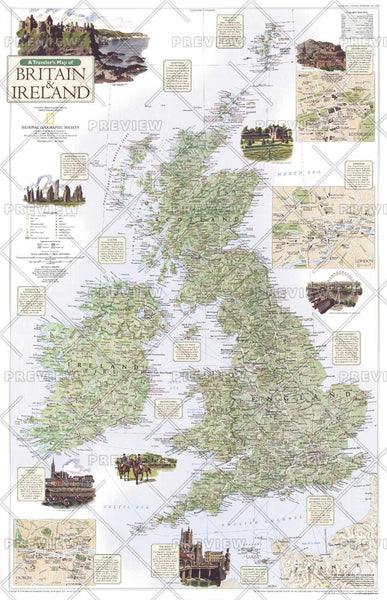 A Traveler's Map of Britain and Ireland