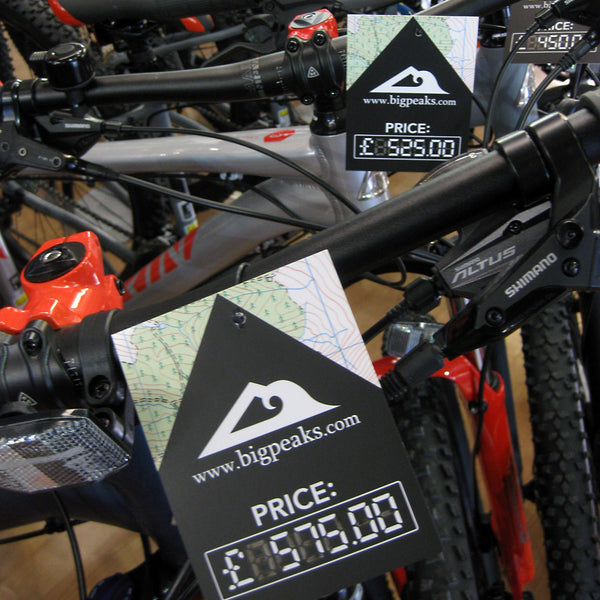 250 Price labels for bikes
