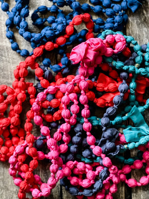 Silk-Knotted Beads