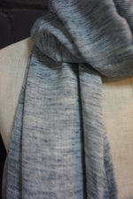 Load image into Gallery viewer, Navy blue fleck-  scarf with navy tassles