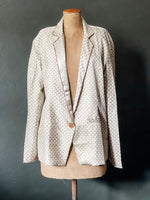 Load image into Gallery viewer, The Sari Blazer - Creamy Patterned Silk