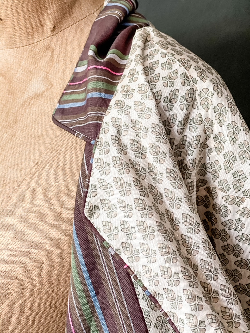 The Sari Blazer - Creamy Patterned Silk