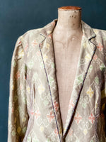 Load image into Gallery viewer, The Sari Blazer - Natural Ikat Silk - L