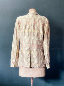 The Sari Blazer - Natural Ikat Silk - L