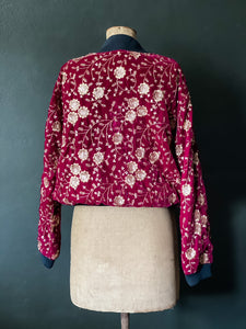 The Bomber Jacket - Amazing Red Velvet with Gold