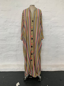 The Divinity Dress - Sweetest Candy Stripe with Tassles to match