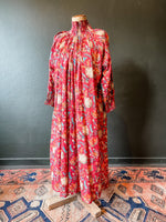 Load image into Gallery viewer, The Angel Dress - Floral Cotton - Red