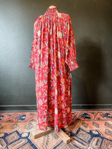 The Angel Dress - Floral Cotton - Red