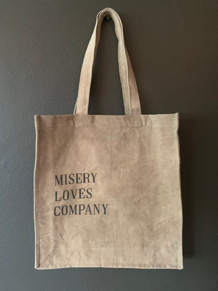 Misery Loves Company Tote - Upcycled Indian Army Tent Canvas