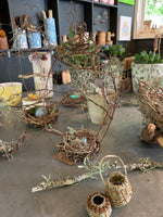 Load image into Gallery viewer, Create a Whimsical Wire bird home and nest with Robyn Morris Atelier. Sat. 15th May. 1pm-3pm