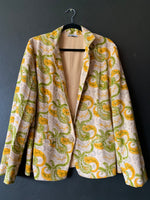 Load image into Gallery viewer, The Blazer - Natural Dye wood block printed Khadi fabric