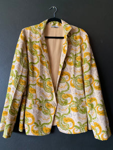 The Blazer - Natural Dye wood block printed Khadi fabric