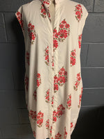 Load image into Gallery viewer, The Divinity Dress - Woodblock Printed Cotton Beauty - Traditional Floral (Long)