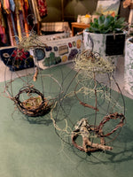 Load image into Gallery viewer, Create a Whimsical Wire bird home and nest with Robyn Morris Atelier. Sat. 6th March 1pm-3pm