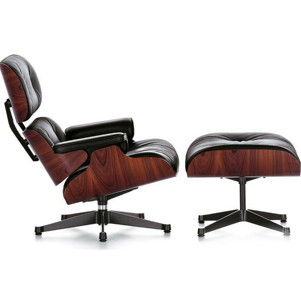 Herman Miller Eames Style Lounge Chair and Ottoman in Italian Leather - Stíl