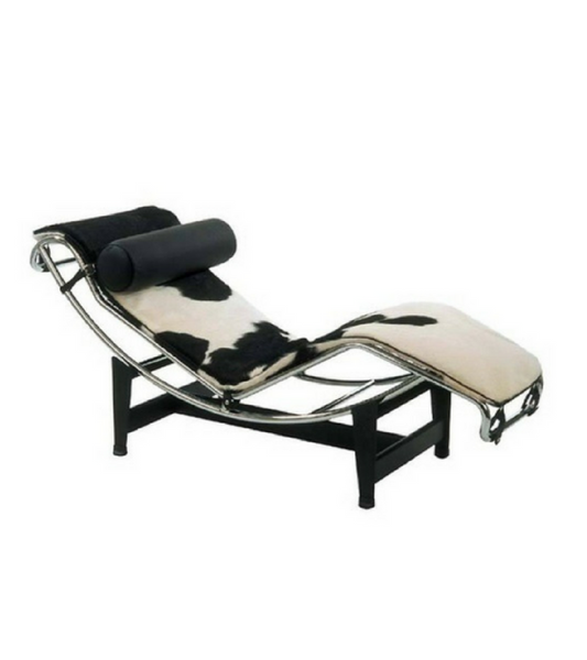 LC4 Corbusier Style Ponyhide Chaise Longue