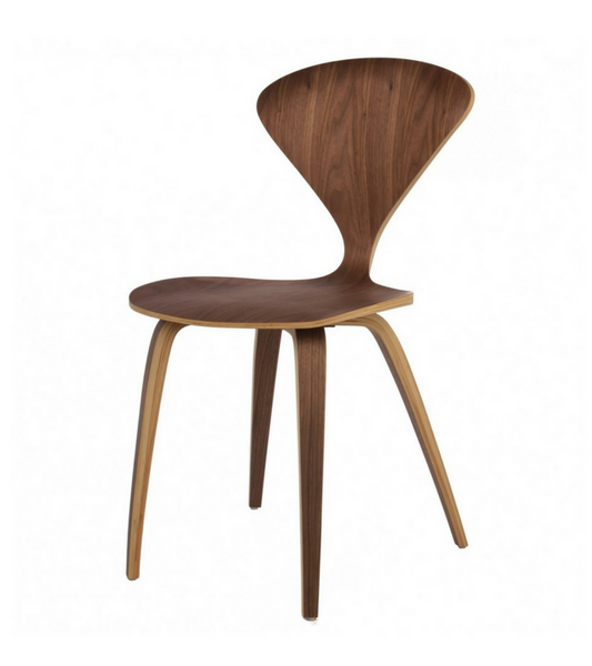 Cherner Style Walnut Ply Dining Chair