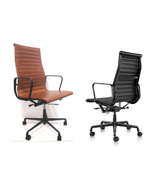 High Back Ribbed Eames Style EA119 Office Chair