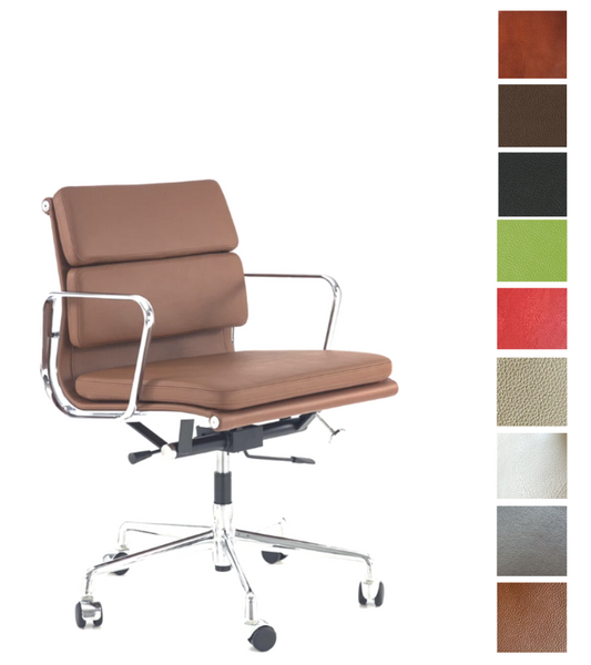 Soft Pad Eames EA217 style Office Chair in choice of colours