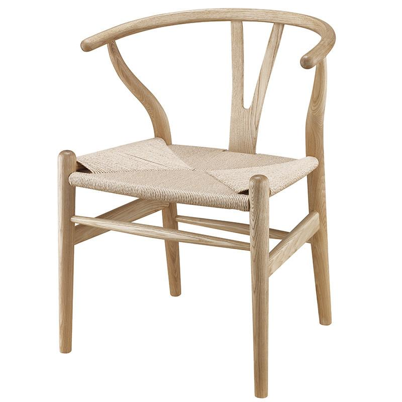 Wishbone Chair in Natural wood inspired by Hans Wegner
