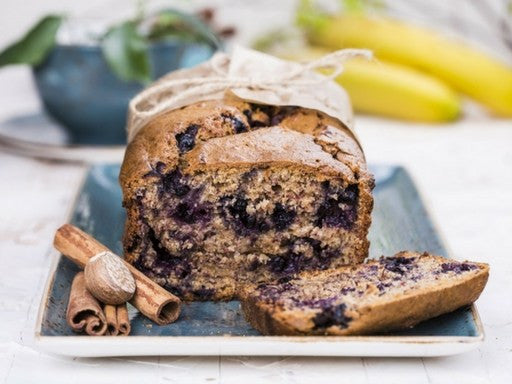 Protein Packed Banana And Blueberry Loaf