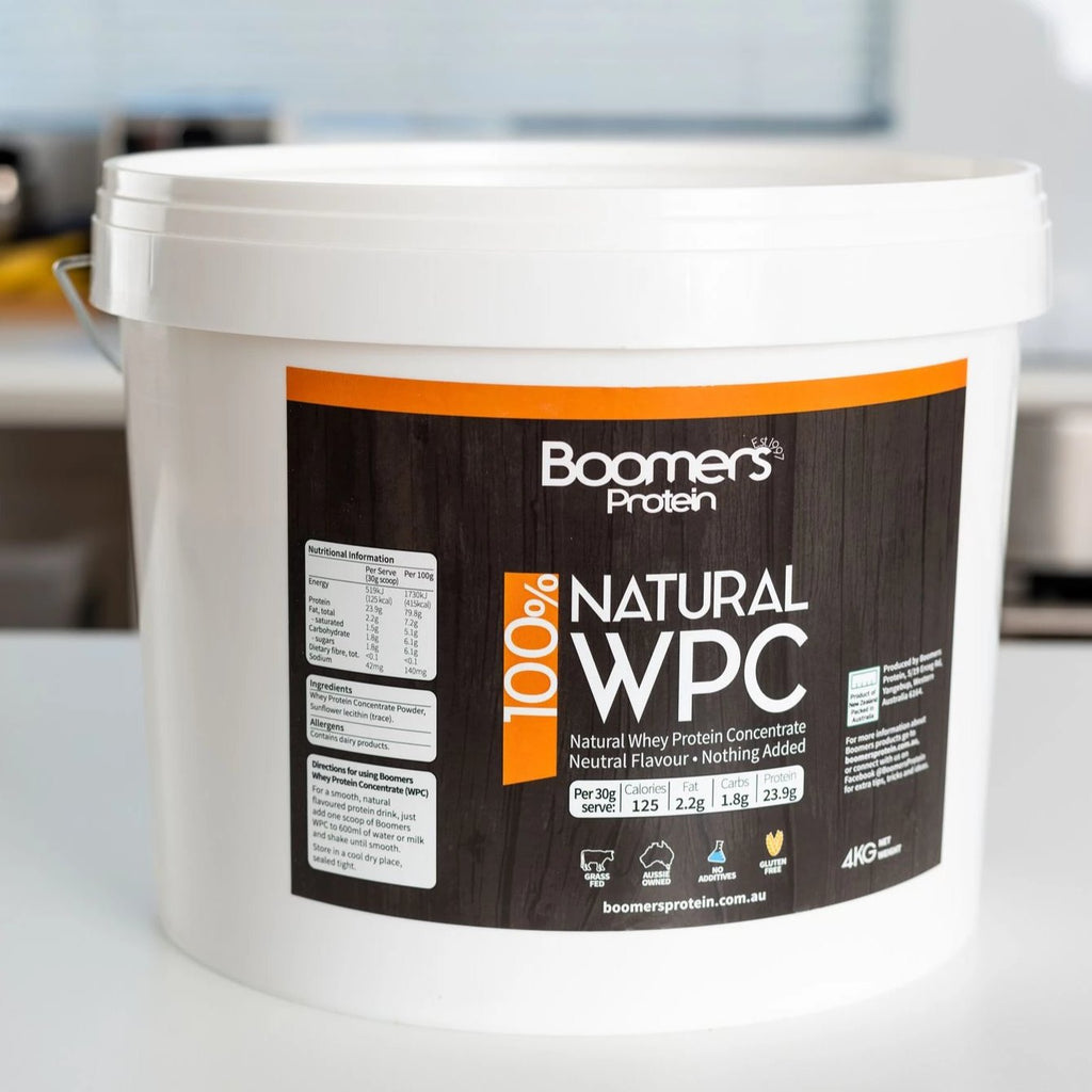 Boomers 100% Natural Whey Protein Concentrate Powder