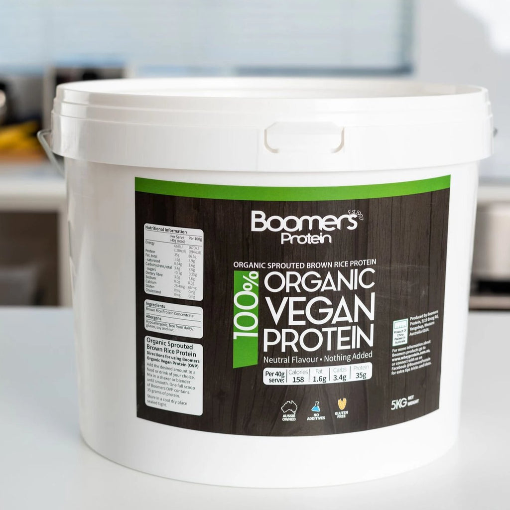 Boomers 100% Organic Vegan Sprouted Brown Rice Protein Powder