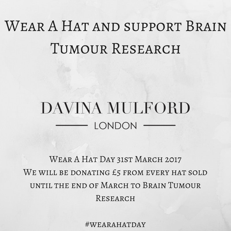 Wear a hat and support Brain Tumour Research